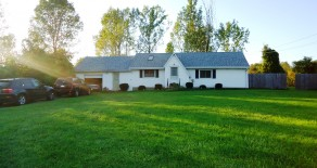 AVAILABLE MAY – Charming Rural Home, Huge Country Lot in Angola